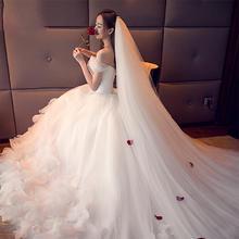 精美长款新娘婚纱头纱!2018新款新娘头纱婚纱韩式结婚