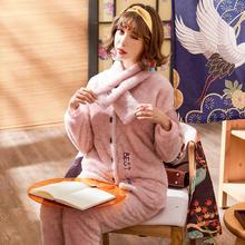 送围巾秋冬季法兰绒加厚保暖韩版可外穿甜美可爱套装家居服970