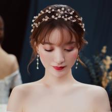 化妆师推荐!头饰2018新款森系仙美发饰礼服婚纱配饰韩式结婚