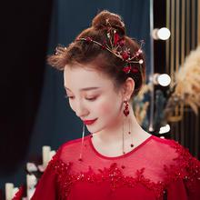 敬酒服头饰女新款森系超仙发箍韩式礼服造型配饰新娘结婚发饰