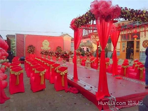 如何布置农村婚礼院子图片