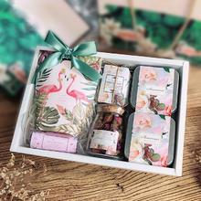 火烈鸟结婚伴手礼盒创意高端大气婚礼喜糖盒子成品含糖回礼品