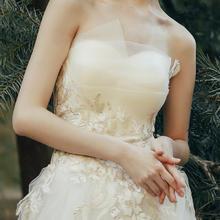 【初心】多层抹胸设计精美刺绣显瘦仪式纱