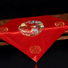 红盖头中式新娘2018新款红色流苏结婚盖头纱刺绣古典秀禾服