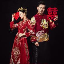 【新品】新款敬酒服结婚中式秀和服秀禾凤冠霞帔嫁衣