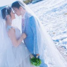 冬天拍婚纱照怎么保暖