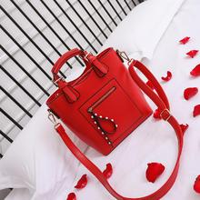 千慕鸟红色大包包水桶包结婚新娘包伴娘包包女手提包婚礼包斜挎包