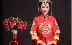 中式婚纱图片