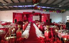 农村中式婚礼布置图片