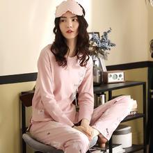 睡衣秋女纯棉长袖春秋韩版学生卡通甜美公主风两件套家居服