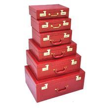 结婚箱子红色手提箱子结婚皮箱旅行箱包官箱压箱彩礼箱结婚陪嫁箱