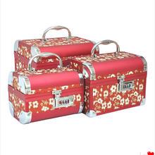 首饰盒公主化妆盒饰品盒珠宝盒带锁首饰盒首饰收纳盒