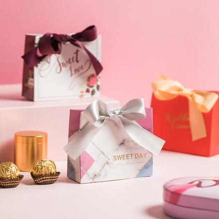 ins风个性创意欧式系带手提式喜糖盒