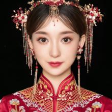秀禾服新娘头饰2018新款结婚中式龙凤褂古装大气发箍凤冠对钗