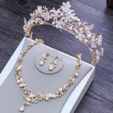 结婚项链配饰三件套巴洛克金色皇冠大气婚纱礼服配饰婚礼首饰王冠