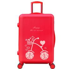 【可定制照片的行李箱】大红色旅行皮箱新娘陪嫁箱子嫁妆拉杆箱