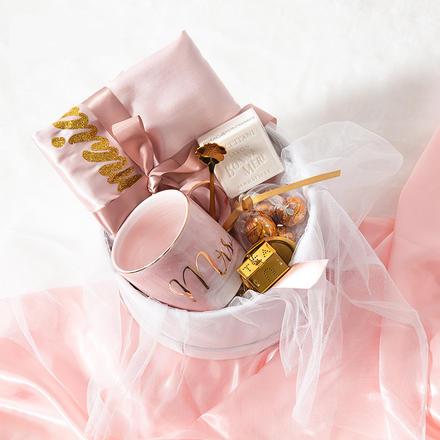 伴娘伴手礼睡袍杯子结婚回礼盒
