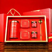 中式伴手礼大礼盒伴娘伴郎喜糖喜饼礼盒成品含糖中国风结婚回礼