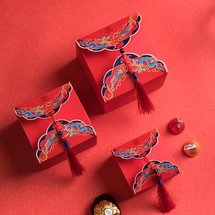 中国风龙凤呈祥喜糖盒
