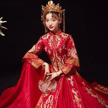 精致独特!2018新款中式嫁衣龙凤褂复古婚服敬酒服秀禾