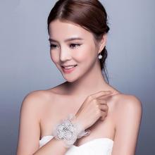 新娘手腕花韩式结婚创意腕饰手链姐妹手花婚礼配饰婚纱饰品