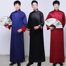中式伴郎服唐装男古装男长衫中式男装长袍马褂伴郎团衣服男秀禾服