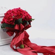 中式婚礼大红玫瑰手拿花束 手捧花