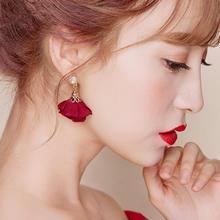 新款新娘结婚耳饰耳钉韩式花朵水钻耳针式耳环婚纱配饰礼服饰品