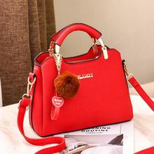 千慕鸟大红色结婚包包新娘手提包时尚女包婚庆大方包包百搭斜挎包