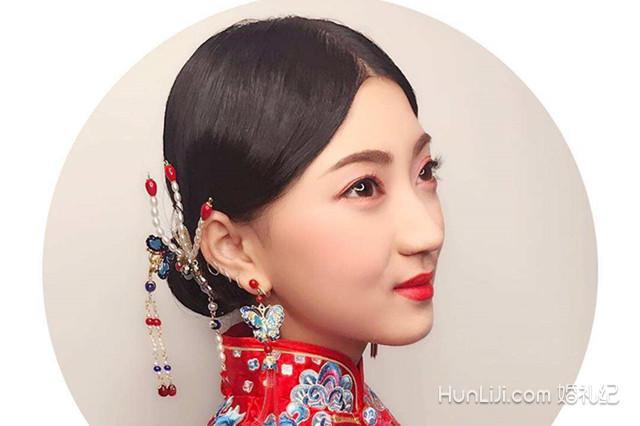 中式新娘编发教程图解