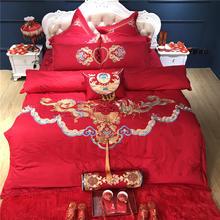 欧式刺绣全棉结婚四件套