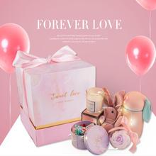 抖音大理石结婚伴手礼 创意送女友生日礼物ins婚礼喜糖盒批发