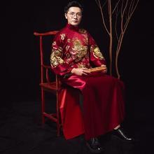 2018新款男装中式结婚礼服新郎服敬酒敬茶服唐装秀禾服
