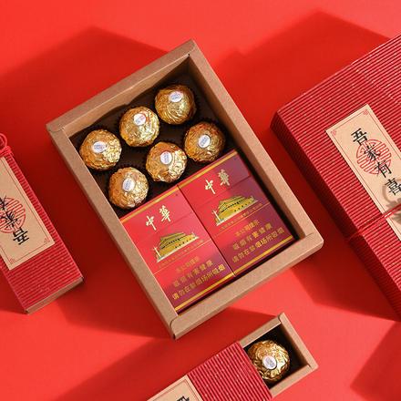 【5套装】复古瓦楞纸喜糖盒套装