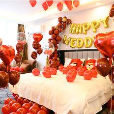 布置婚房气球怎么粘