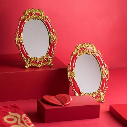 中式梳子镜子嫁妆套装