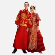 中式侧腰蕾丝情侣款秀禾服