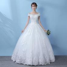 韩式清新闪亮蕾丝婚纱