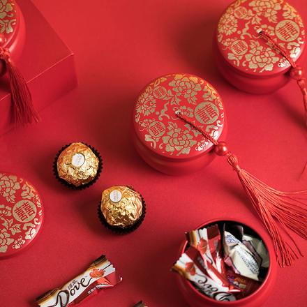 多套餐可选 中国鼓成品喜糖