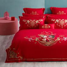 中式娘子相公全棉刺绣床品