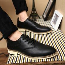 夏季英伦风休闲皮鞋正装男鞋子商务尖头青年流行男士增高百搭潮鞋