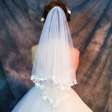 婚纱头纱女新娘头纱头饰超仙简约短款拍照森系复古新款韩式结婚礼