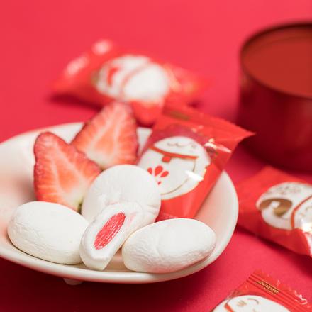 好邻居草莓味夹馅棉花糖 500g约80颗