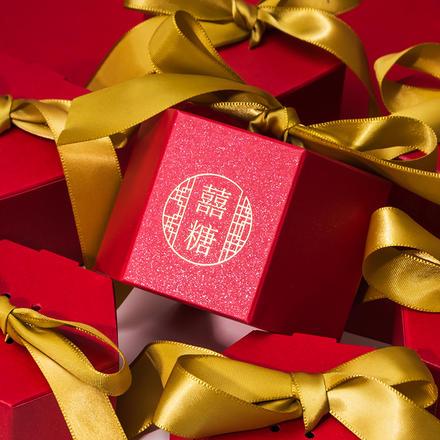 中国风浪漫六边糖盒