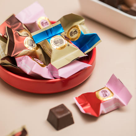 乔治?巴顿?金 英伦夹心巧克力500g约70颗 高温易化