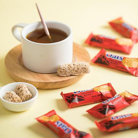 大门口营养燕麦片巧克力棒 500g约40颗 高温易碎不接受退