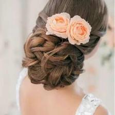 欧式婚纱照新娘发型