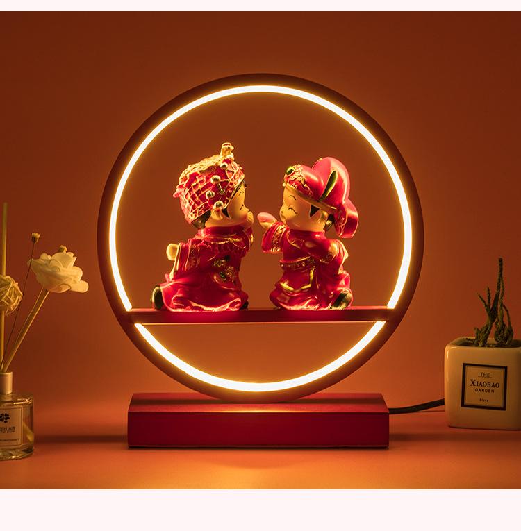 婚房卧室台灯摆件