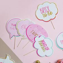 【10支装】INS创意拍照道具 粉色英文字牌