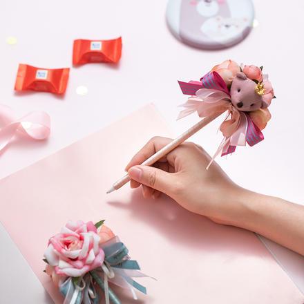 韩式创意可爱玩偶签到笔